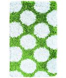 RugStudio presents The Rug Market America Kids Polkamania Lime/white 02264 Lime/white Area Rug